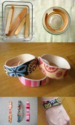 pulseras originales de palitos de helado