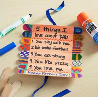 regalo muy sencillo para el dia del padre con palitos de helado