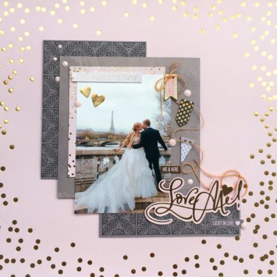 Scrap para bodas en tonos rosas de Scrapbook.com