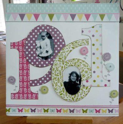 Tarjeta de cumpleaños scrap ideas de Scrapbookinglife