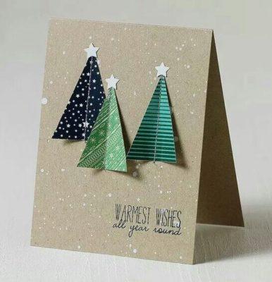 Tarjeta de Navidad 3D original