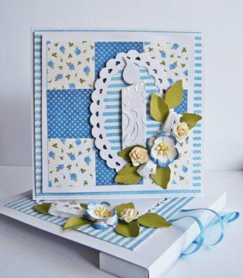 Tarjetas de bautizos en azul de Scrapbook.com