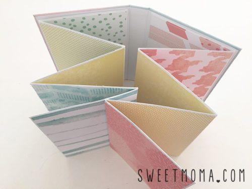 Tarjetas de Scrap en acordeón de Sweetmoma.