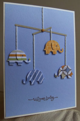 Tierna postal de scrap para Baby shower.