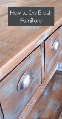 Efecto del pincel seco en madera