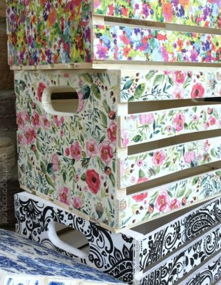 forrar cajas con decoupage