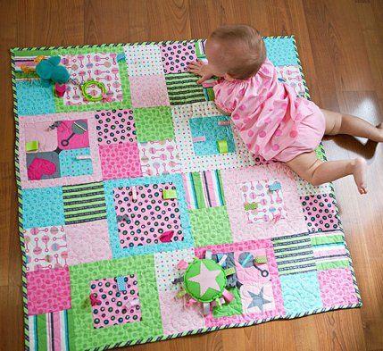 Manta para bebes de patchwork de allpeoplequilt.com