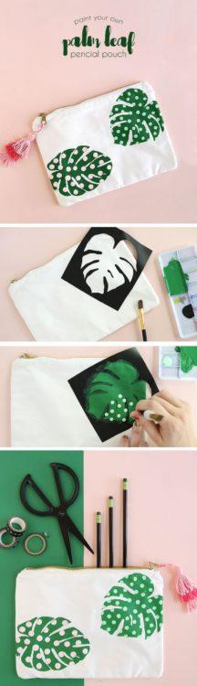 Pintura textil con stencils de Persialou.com