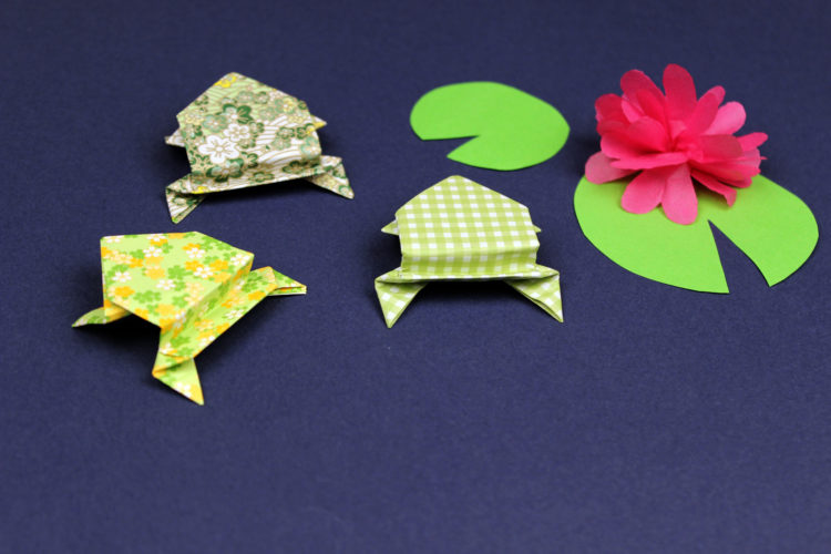ranitas saltarinas de origami