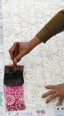 Técnica del batik de blog.paper-source.com