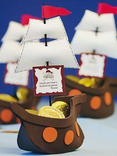 Barco pirata de gomaeva para dulces