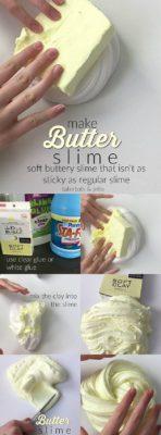 como hacer slime de mantequilla