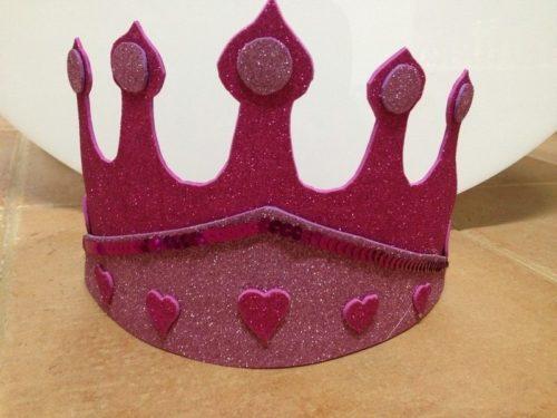 Corona de gomaeva con purpurina de Conideade