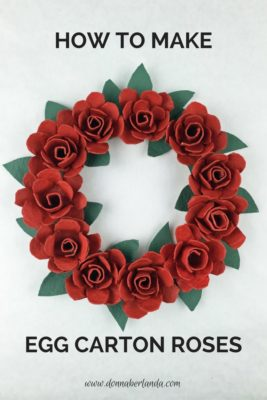 Corona de rosas con hueveras