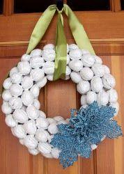 Coronas navideñas de nueces