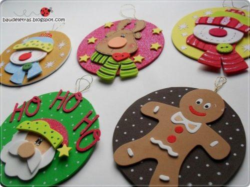 Decoraciones divertidas para Navidad con Foamy