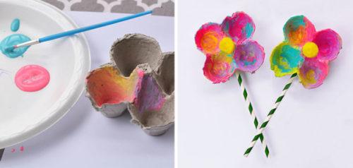 Flores con hueveras.