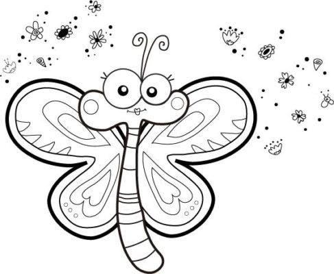 como dibujar una mariposa
