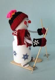 Muñeco de nieve con bote de Actimel