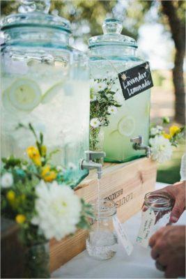 Bebidas refrescantes para fiestas al aire libre.