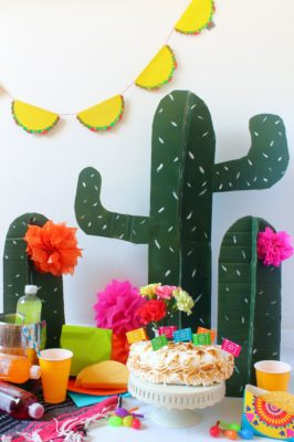 Cactus decorativos para fiestas Mexicanas.