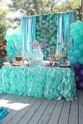 Candy bar inspiración mermaid.