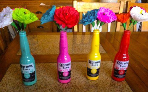 Centros de mesa fáciles para fiesta Mexicanas.
