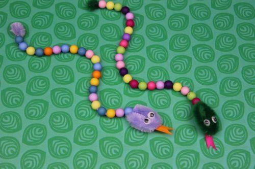 como hacer serpientes con limpiapipas