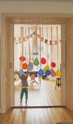 Decoración con globos.