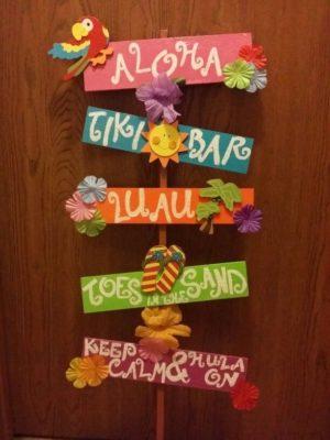 Decoración para fiesta Hawaiana