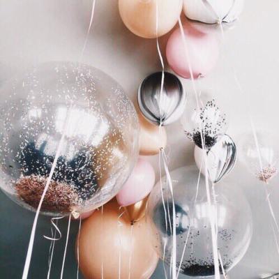Decoraciones con globos.