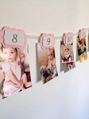 Fotos años a año para decorar de InspiredbyAlma