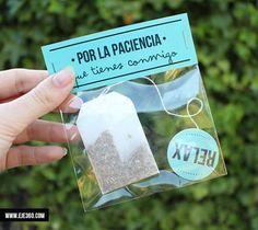 Idea original de regalo para papas amantes del té y las infusiones.
