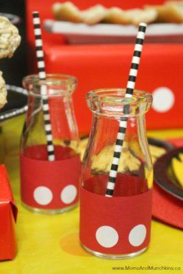 Idea para bebidas inspiradas en Mickey.