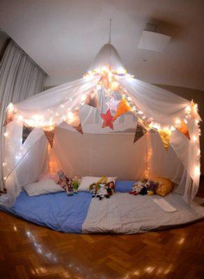 Idea para fiestas infantiles de pijama.