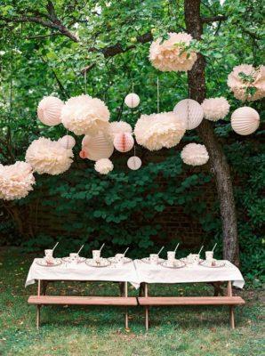 Ideas para fiestas en el jardín.