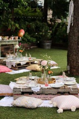 Inspiración Boho para fiestas al aire libre.