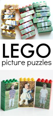 Juego DIY puzzle Lego con foto personalizada.