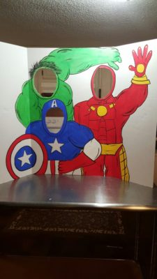 Photocall para fiesta de Superheroes.