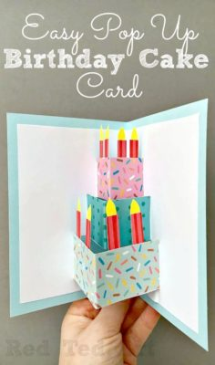 Tarjetas Pop-up para cumples.