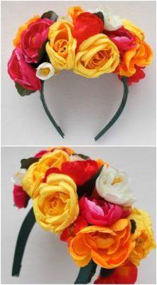 Tocados florales inspirados en Frida Kalho.