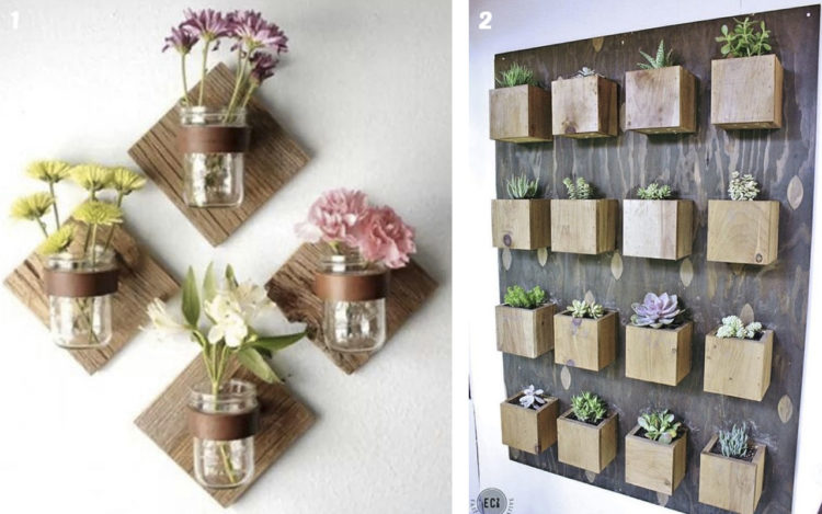 51 ideas de manualidades con plantas top 2019 uma for Plantas de interior para colgar