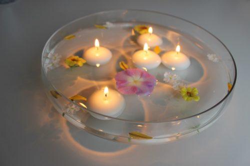 centro de mesa de velas
