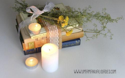 centro mesa con libros