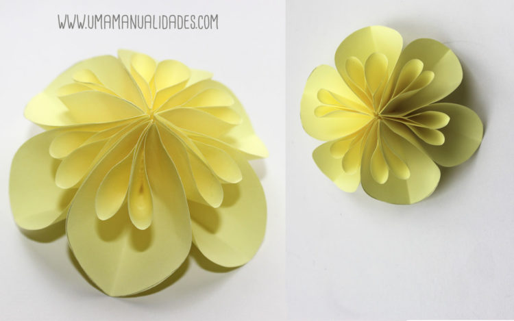 10 Ideas De Flores De Papel Faciles Top 2019 Uma Manualidades