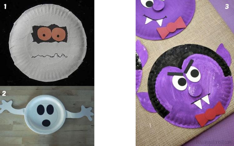 25 manualidades de halloween con platos top 2018 uma manualidades - Manualidades con papel pintado ...