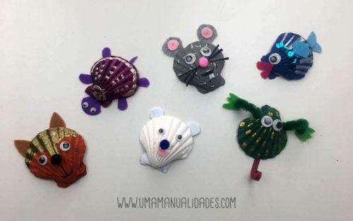 manualidades infantiles con conchas de mar