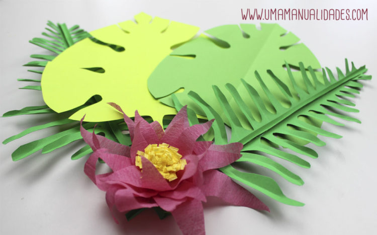 26 Sencillas Ideas Con Flores De Papel Hawaianas Top 2019