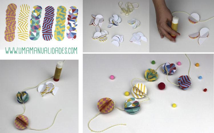 manualidades infantiles para fiestas con papel