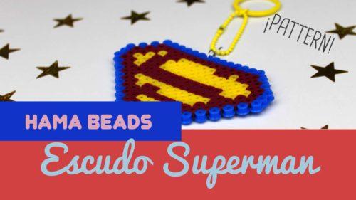 Patrón Hama beads de llavero de superman